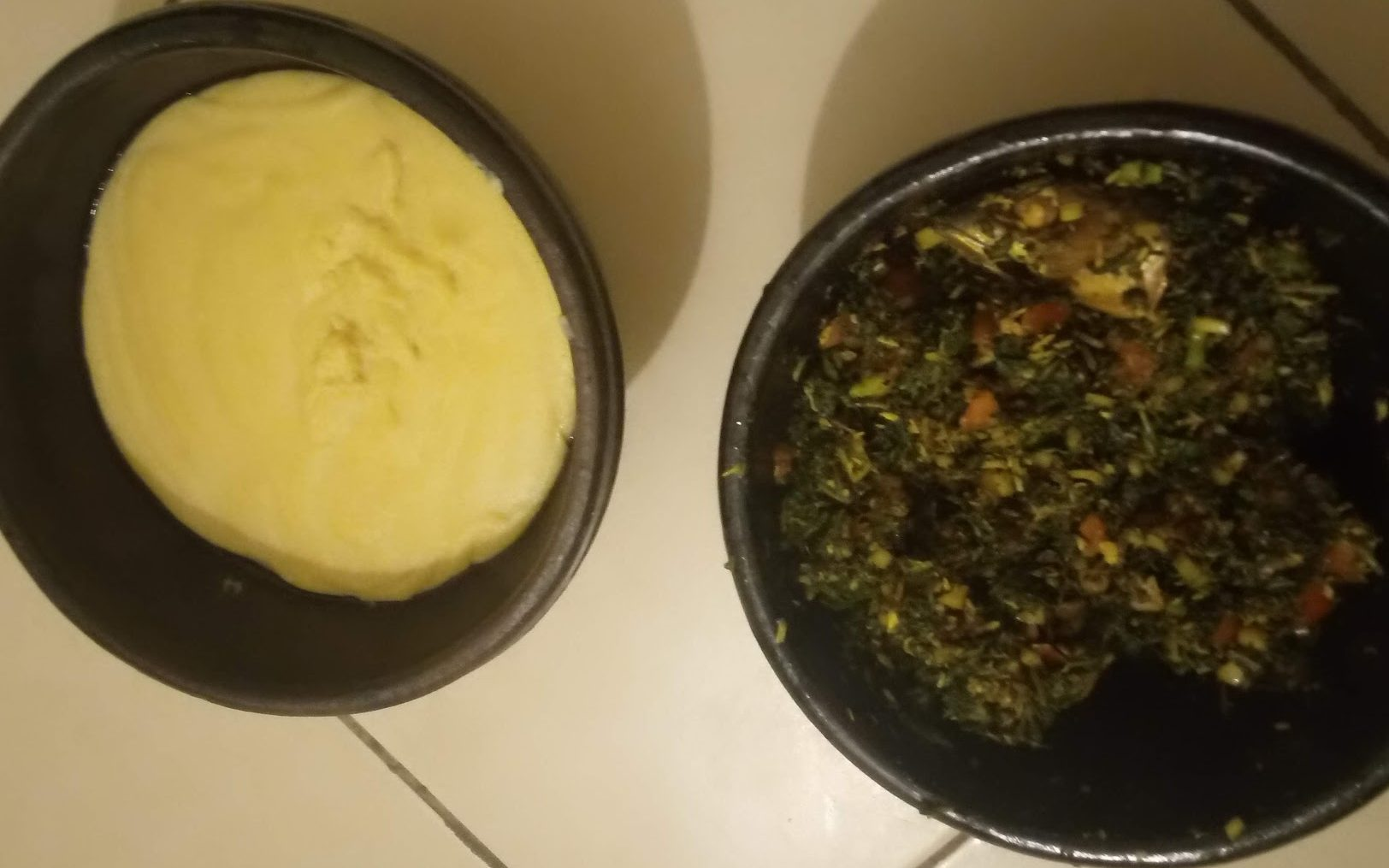 Sauce Gboma et pâte - © Visiter le Bénin