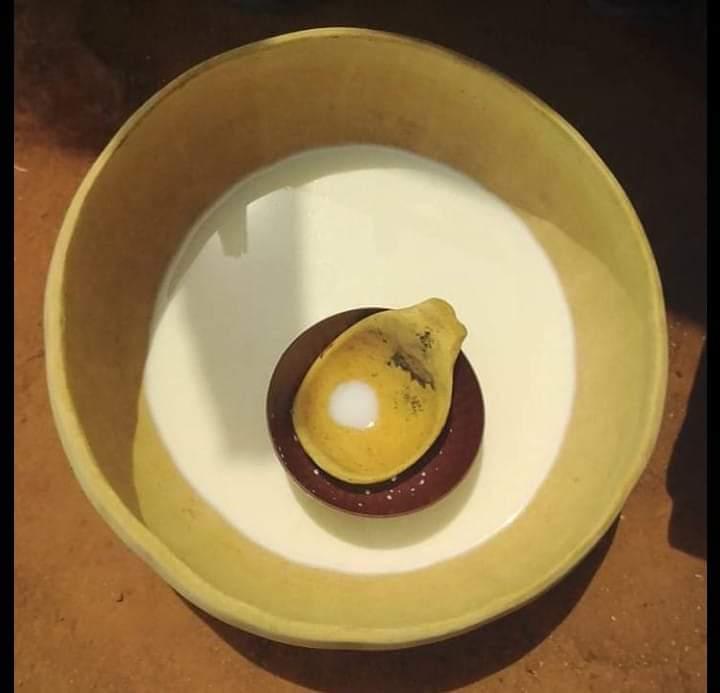 Lait dans une calebasse - © Visiter le Bénin